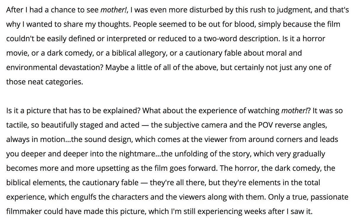 Martin Scorsese on MOTHER! https://t.co/kIc7Ku5CO5 https://t.co/EiStcntTR6