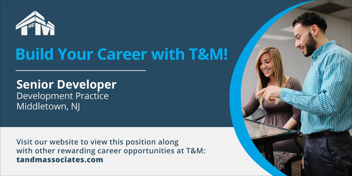 Want to #joinourteam? We&#39;re currently seeking a Senior Developer in Middletown, NJ! Learn more here:  http:// bit.ly/2aRQ2eg  &nbsp;   #nowhiring<br>http://pic.twitter.com/T4lqETG2Ke