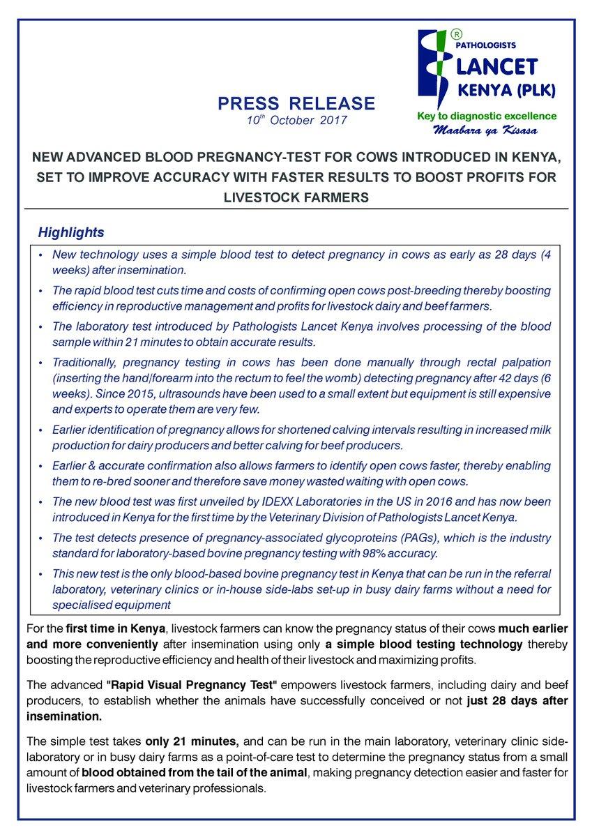 Plk Lancet Kenya On Twitter New Advanced Blood Pregnancy Test