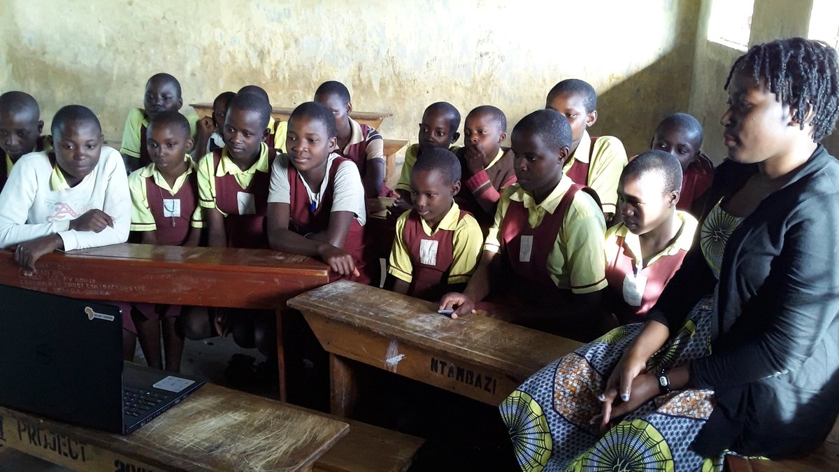 Get a Voice Girl leadership club of Ntambazi watching THE #QueenOfKatwe Ugandan Movie... #WeWatchToBeInspired<br>http://pic.twitter.com/KsBBY7Npot