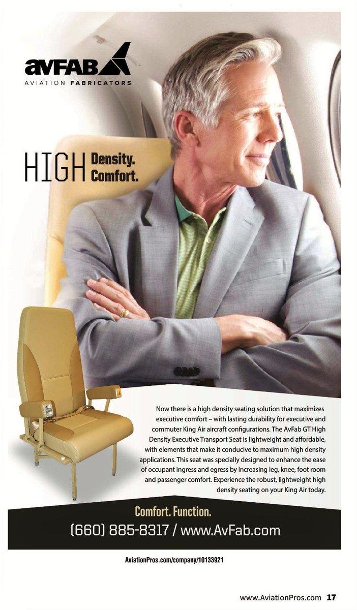 #NBAA17 AvFab&#39;s new VIP Seating for #KingAir  http://www. avfab.com/king-air-100-2 00-300-350-90-99-globetrotter-seat-rh-high-density-airline-style-commuter-executive-vip-transport &nbsp; …  @KingAirNation @ElliottAviation @TextronAviation @DuncanAviation #bizav<br>http://pic.twitter.com/7Fj7jscaFy