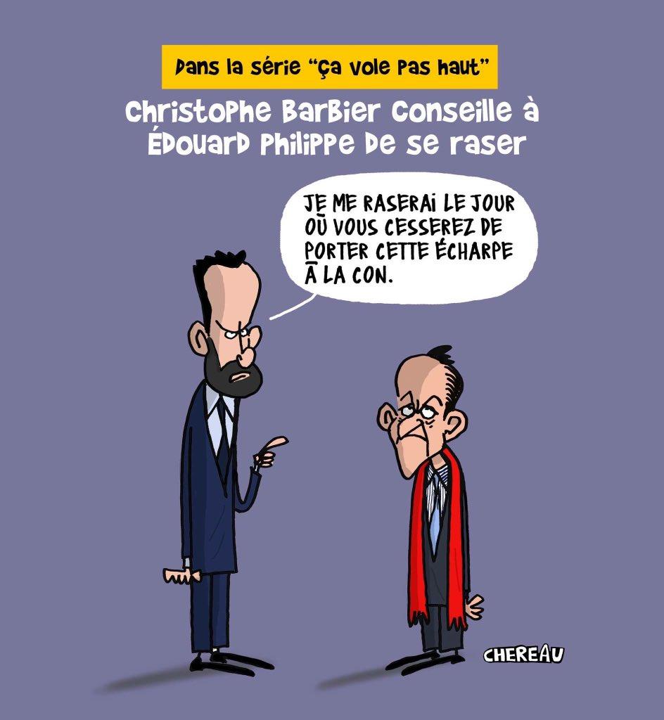 @Olivier_Truchot @AlainMarschall &quot;Oh la Barbe Barbier&quot; lol ! #EdouardPhilippe #ChristopheBarbier <br>http://pic.twitter.com/nOEHEaOhFm