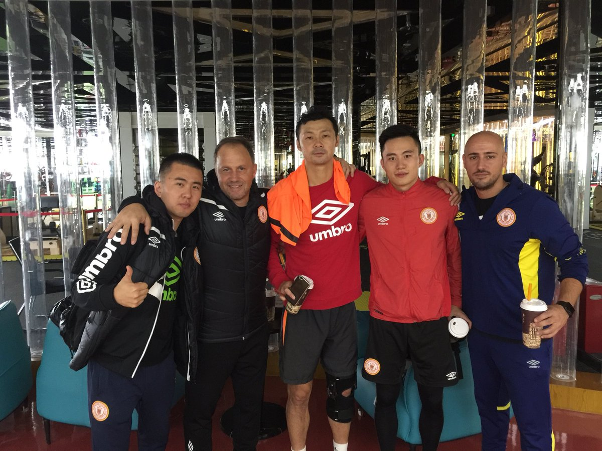 The team enjoying a few days off after the well deserved promotion to #CSL We've to continue working with injured players. #beijingrenhe<br>http://pic.twitter.com/G7Vn8XTyhV