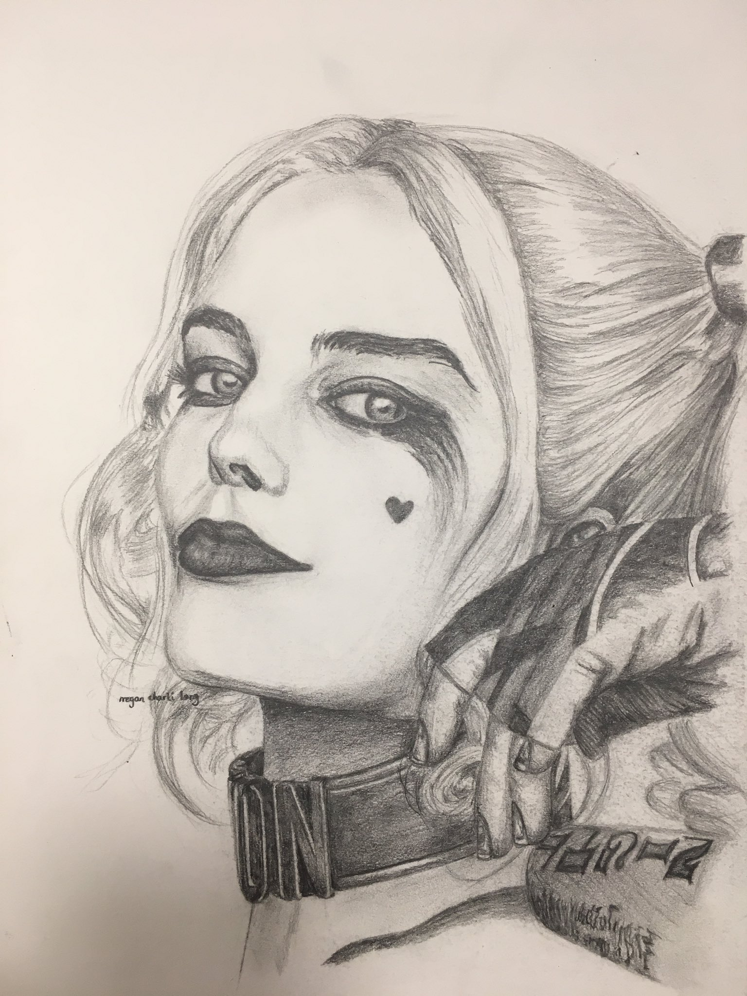 Megan Charli Art On Twitter Hand Drawn Portrait Of Harley Quinn Art Artist Pencildrawing Harleyquinn Margotrobbie Suicidesquad Realism