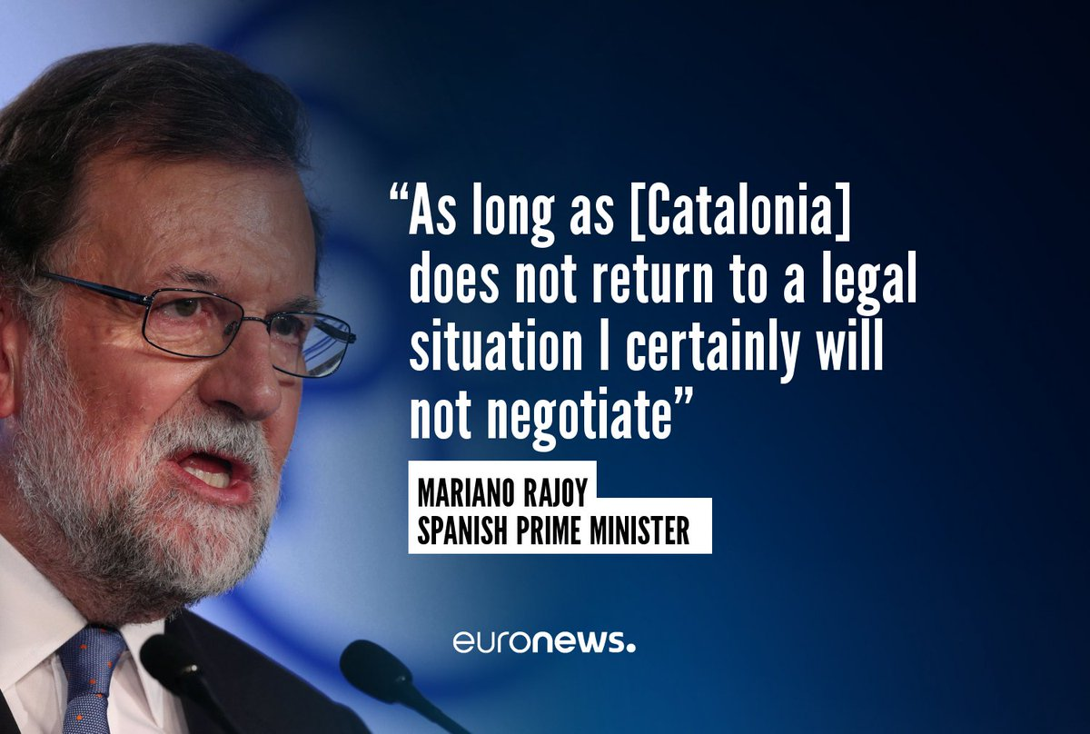 Puigdemont didn't push the full nuclear button but he didn't back down either. Next move Rajoy