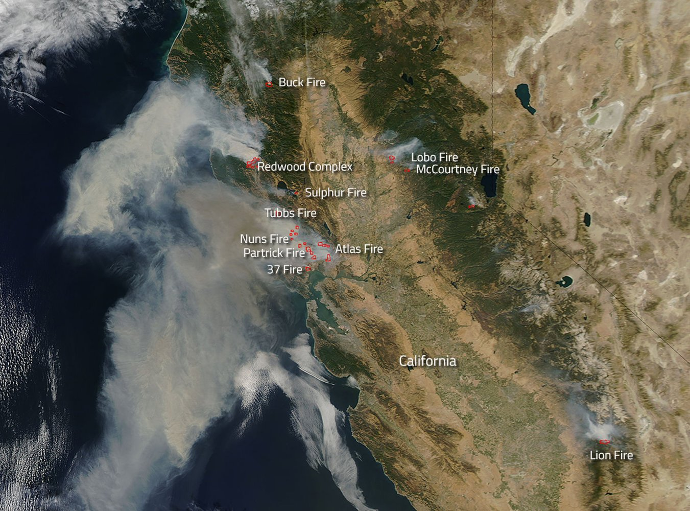 Northern California Wildfires Rage in New Photo from Space https://t.co/yvsD4UZiSC https://t.co/ZVZE3MiFjK