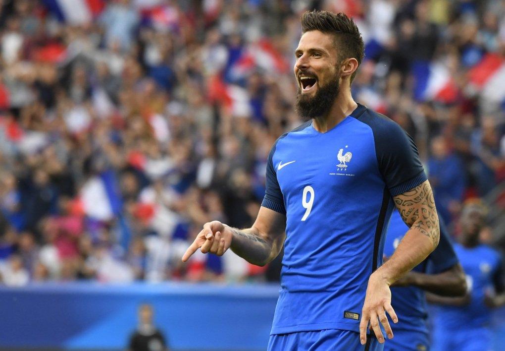 Avec 28 buts, Olivier Giroud devient le 7e meilleur buteur de l'histoire de l'Equipe de France à égalité avec Youri Djorkaeff !