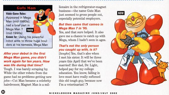 According to Nickelodeon magazine, Guts Man has been living a quiet life as a veterinarian. He also married Roll. https://t.co/1H4XRjN1ax