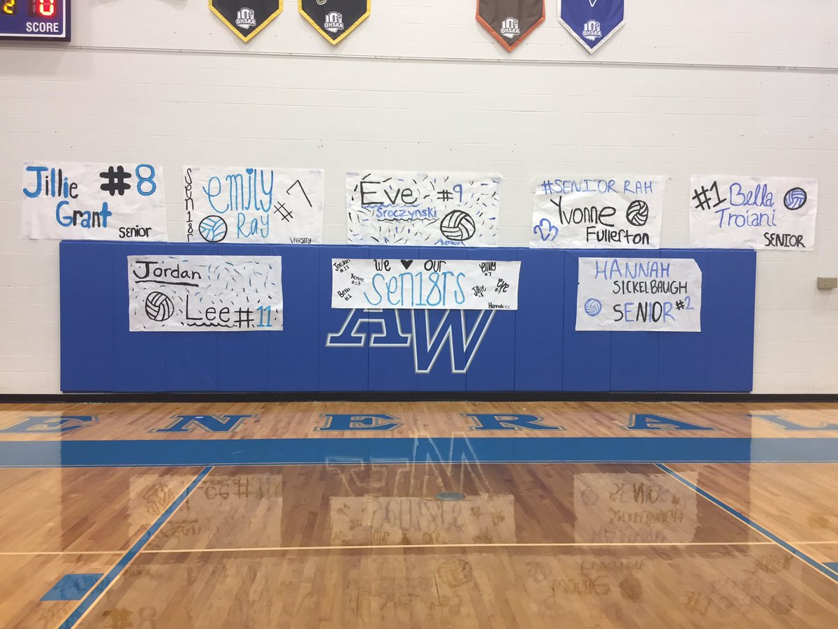AW Volleyball On Twitter Senior Night Congrats To Our - Best flooring for seniors