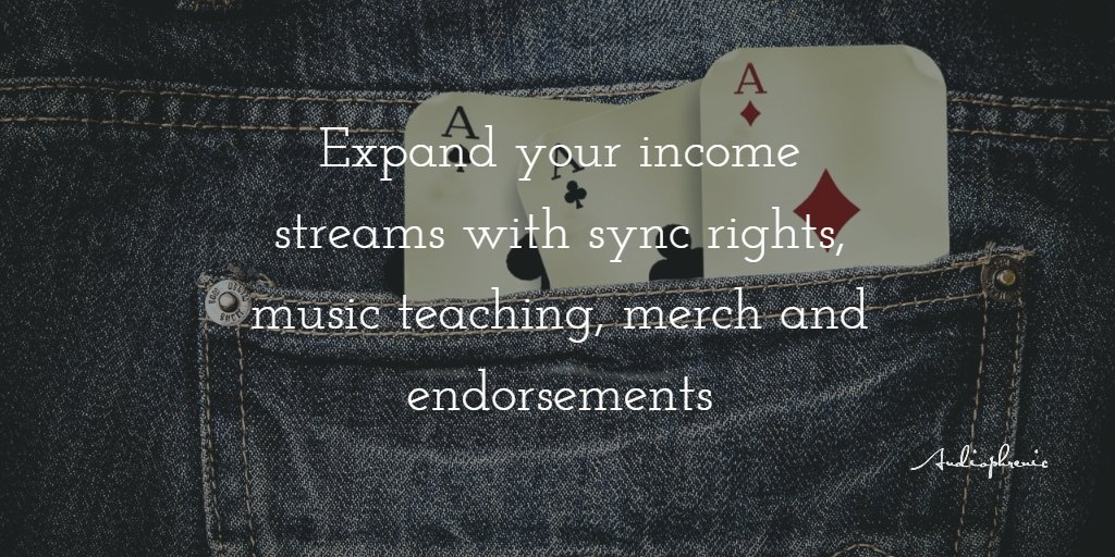 Make sure you can do more than one thing | #Merch #Sync #Endorsements <br>http://pic.twitter.com/0fNk73LOit