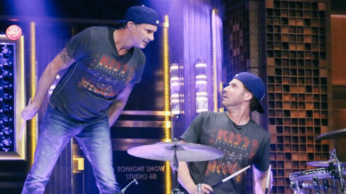 Happy birthday Chad Smith. Who remembers that famous drum off with Will Ferrell?