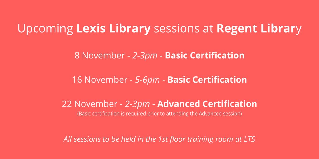 Uni Westminster Lib On Twitter There Are 3 Upcoming Lexis