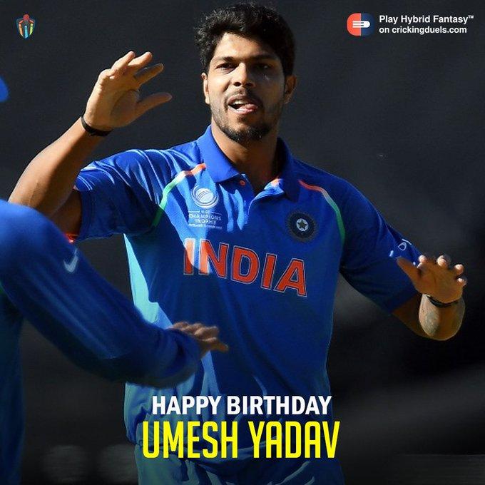 Happy birthday, Umesh Yadav!