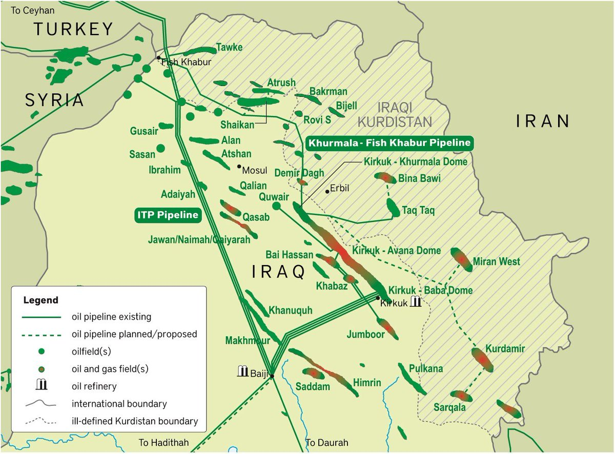 iraq energy on twitter khurmala 3rd dome of kirkuk field part of makhmur district mosul it was seized by krg in 2008 it produces 115kbd oil