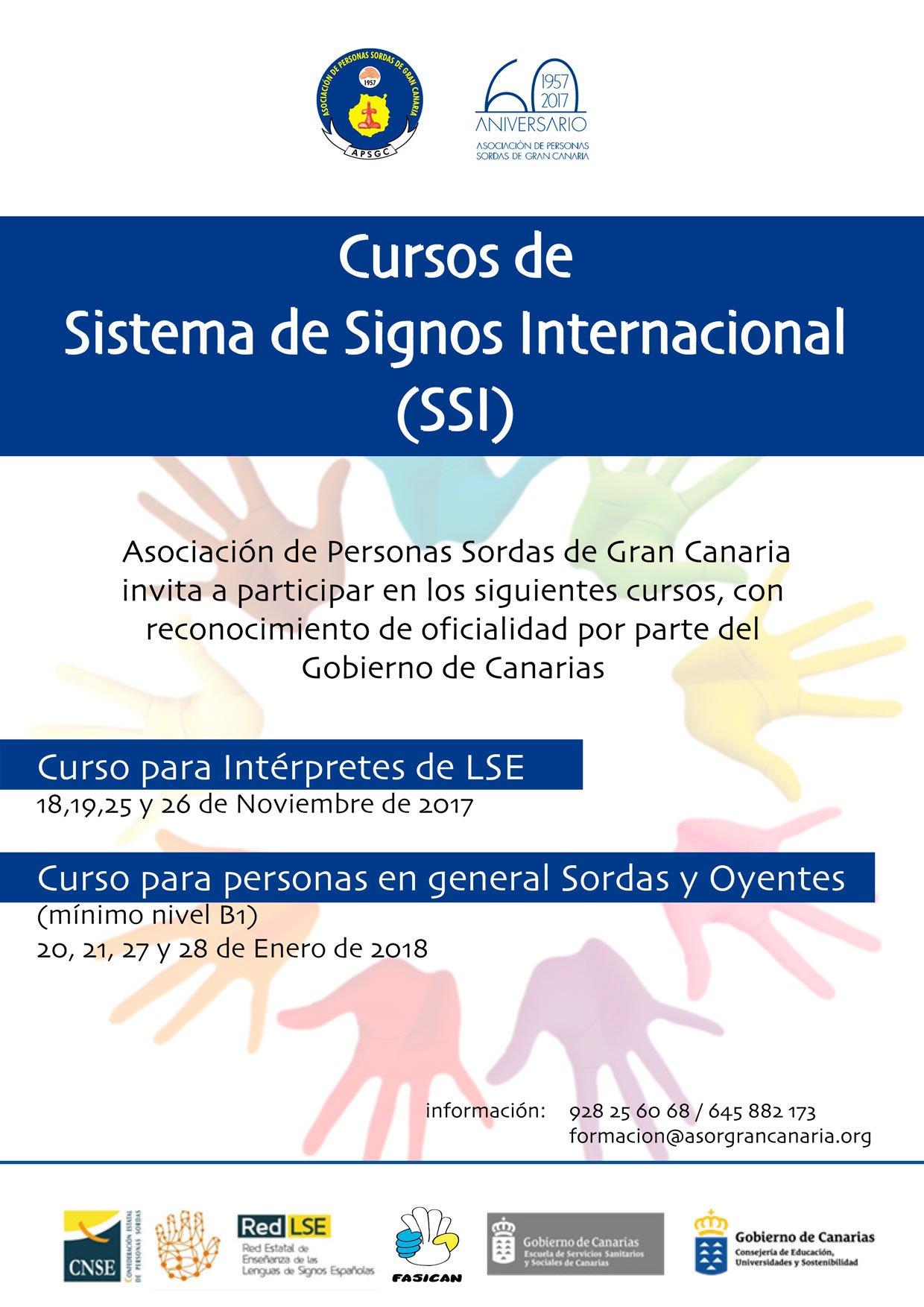 CURSOS DE SISTEMA DE SIGNOS INTERNACIONAL - 20, 21, 27 y 28 ene'18.- Gran Canaria DM-cotIXkAAWcsz