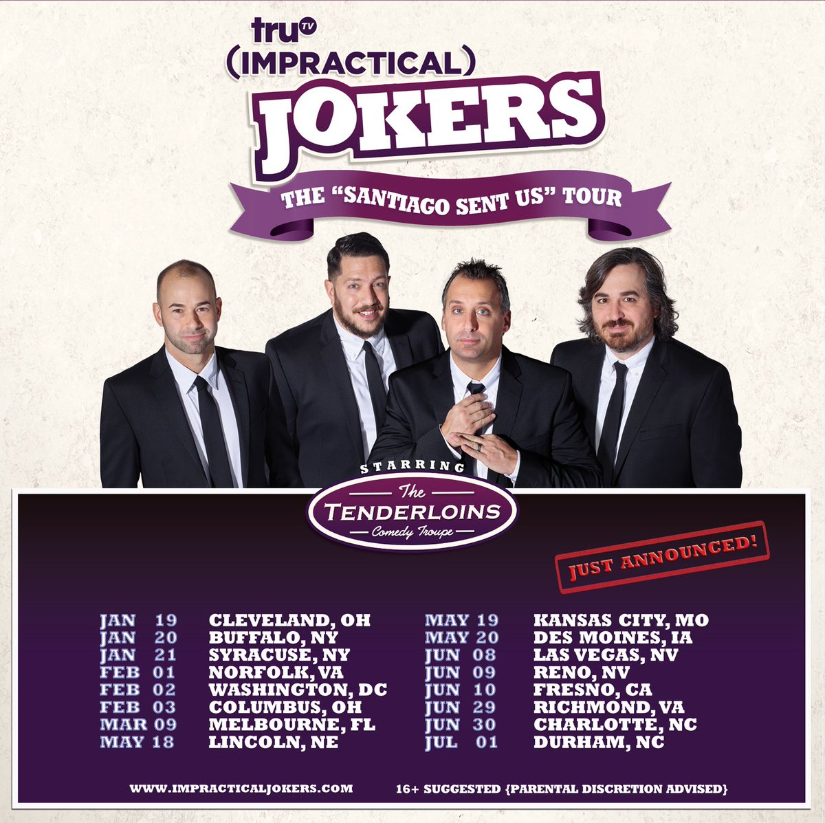 Impractical jokers tour dates in Melbourne