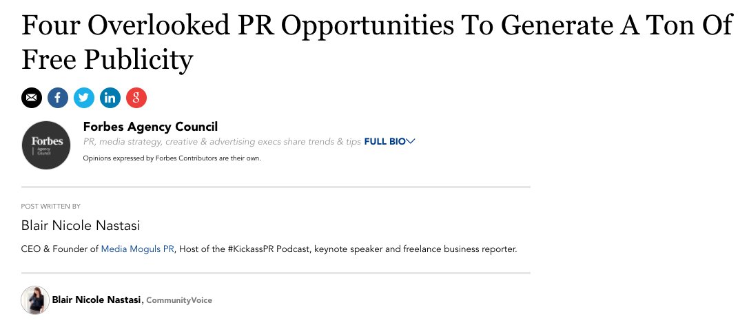 Are you looking for great ways to generate free publicity? Check out these 4 great ideas by @forbes. #pr #publicity  https://www. forbes.com/sites/forbesag encycouncil/2017/10/18/four-overlooked-pr-opportunities-to-generate-a-ton-of-free-publicity/#688a738433ad &nbsp; … <br>http://pic.twitter.com/kWxEMI29s9