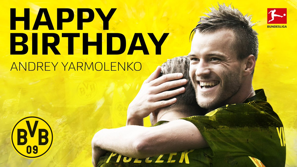 Join us in wishing @BVB's Andrey #Yarmolenko all the best on his 28th...