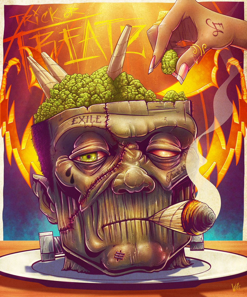 OG DANKENSTEIN  Somethin Wicked This Way Cometh #HappyHalloween #illustration #TrickOrTreatz #StonerArt #Adobe #Wacom #kyrowolf<br>http://pic.twitter.com/nmLkR6jRiJ