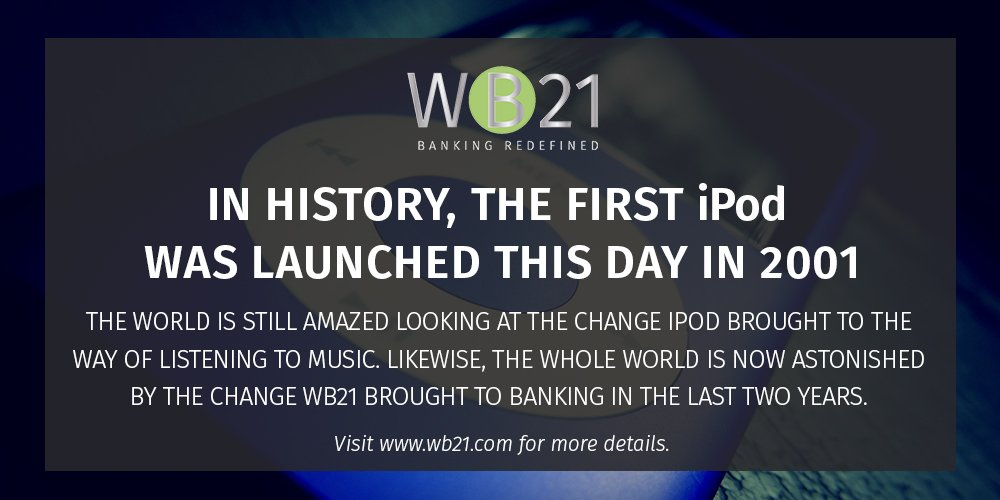 #Redefining your #experiences, the #world is still #changing.  #WB21 #WebBank #WebBanking #Bank #Banks #Banking #Music #Finance #iPod #Apple <br>http://pic.twitter.com/nNNMGlp9Wq