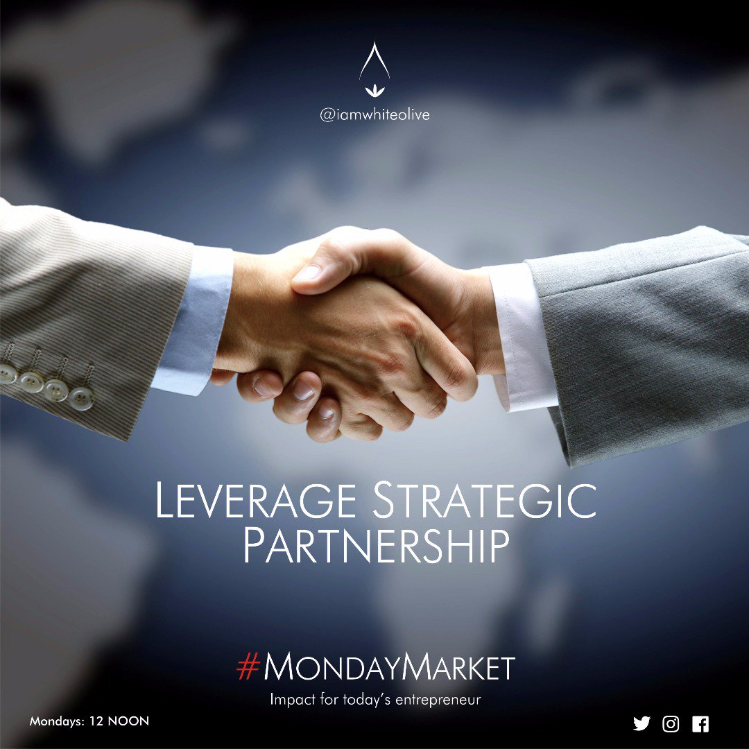 RT iamwhiteolive &quot;#Strategic #Partnership has never been more important in business than now #MondayMarket <br>http://pic.twitter.com/5qWASDalYO&quot;