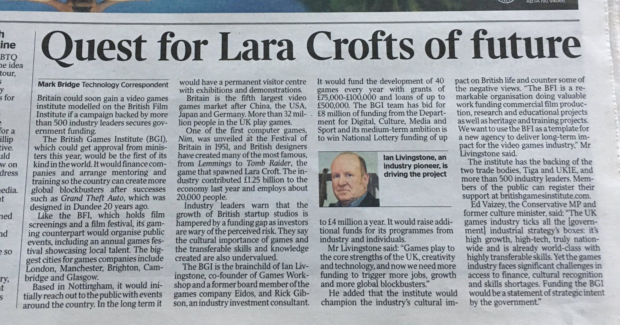 Quest for Lara Crofts of the future