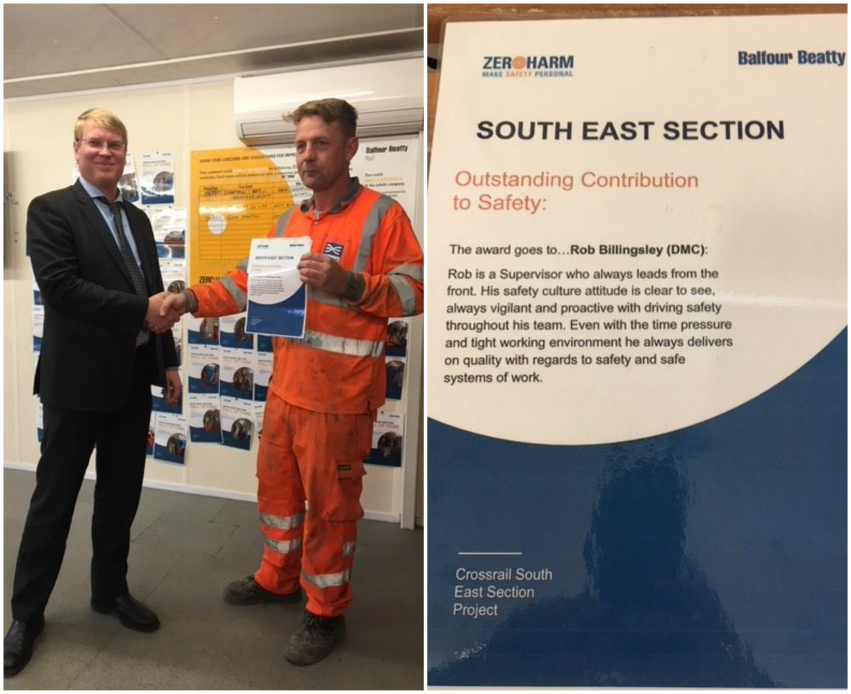 #DMC site #supervisor Rob Billingsley, #winning @balfourbeatty #safety #award   #MakingUsProud #Proud #AbbeyWood #Safe #Construction<br>http://pic.twitter.com/jKMQsElWpz
