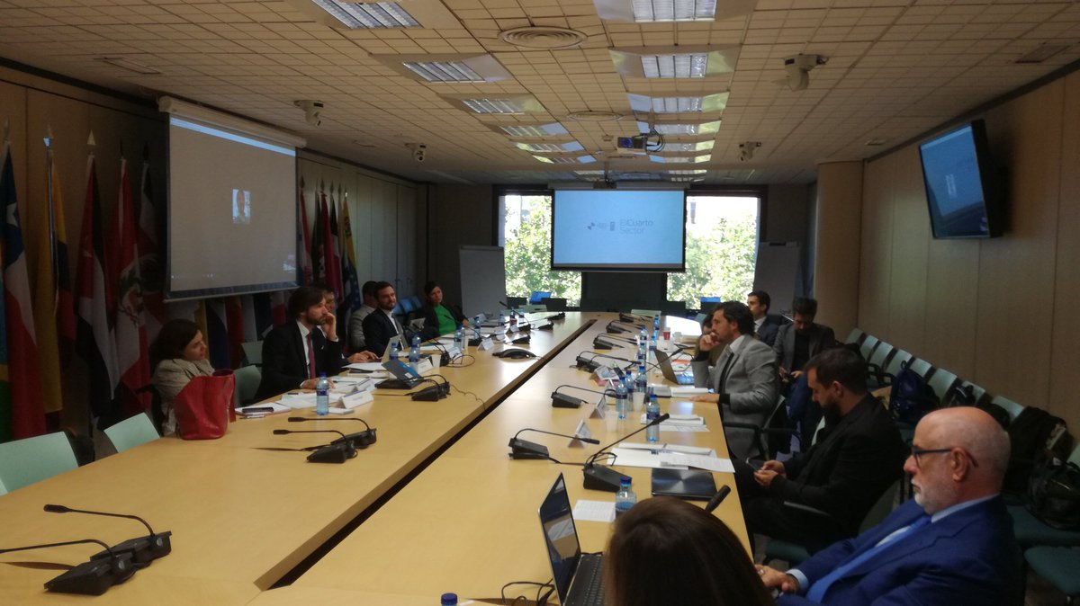Experts gathering at @SEGIBdigital to form #strategic council for #Fouthsector in #Latam @IEuniversity @wef @UNDP<br>http://pic.twitter.com/erNlyNTdrg