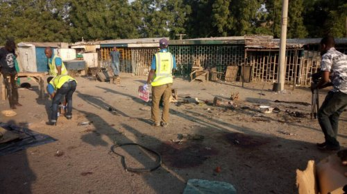 VERY GRAPHIC PHOTOS: Suicide bomber kills 16 people in Maiduguri, Borno