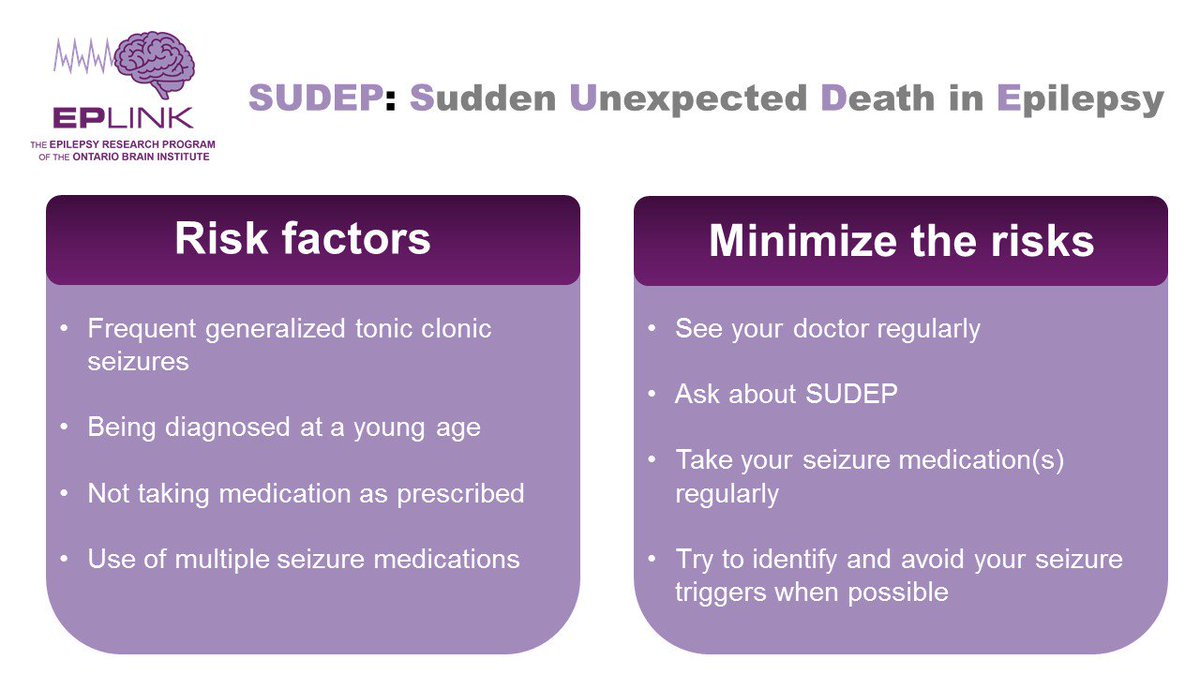 1 in 1,000 people with #epilepsy die of #SUDEP per year. Learn the risks &amp; how to reduce them at  http:// sudepaware.org  &nbsp;   #SUDEPactionday2017<br>http://pic.twitter.com/LTrLg7VjGO