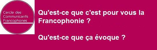 Lors du lancement de #laroutedelacom, on a beaucoup parlé de la #Francophonie. Et pour vous c'est quoi justement la #Francophonie ???pic.twitter.com/vn6JPmYhVT