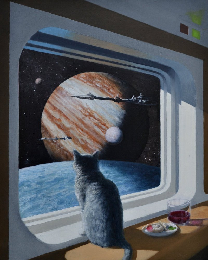 Bravenger, my cat wanted to go outside. After clawing up the sofa again, I was inclined to let him... #writerslife #amwritingfantasy #scifi<br>http://pic.twitter.com/8eWia104Op