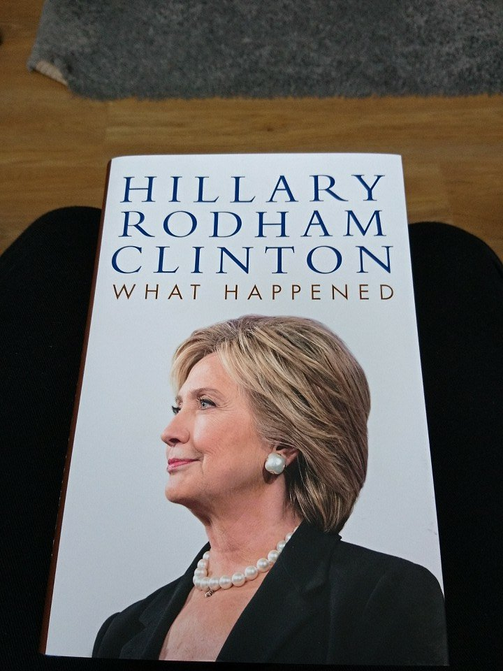 My next bit of light reading. 3 pages in and already low key sobbing #HillaryClinton #WhatHappend #ImStillWithHer<br>http://pic.twitter.com/1dWf7mQiop