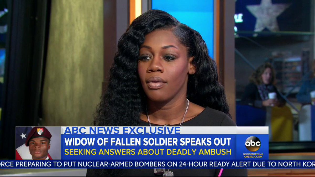 Here's the full interview with  Myeshia Johnson, widow of fallen soldi...