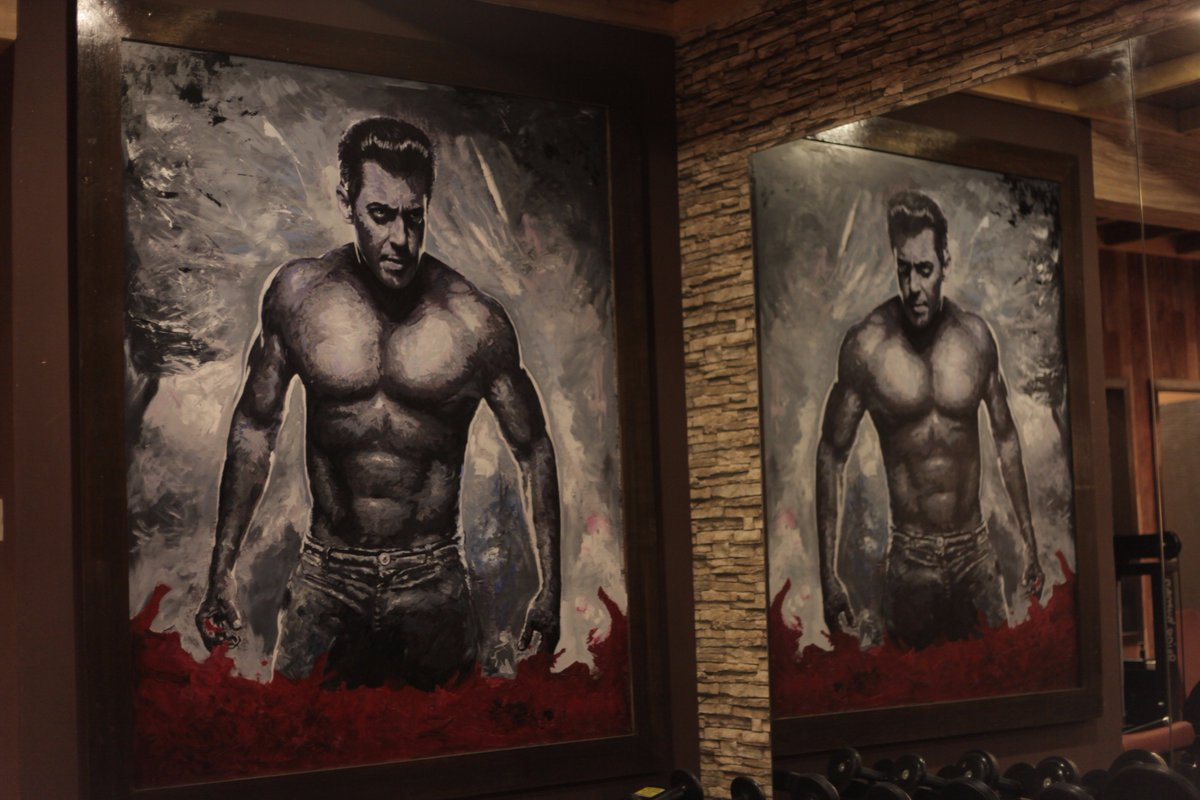 """Salman Khan on Twitter: """"Paintings at my chalet at Bigg house set dehko  #BeingInTouch pe Android Store: https://t.co/46iizrK9V0 iTunes Store:  https://t.co/dFwsW7aIrj… https://t.co/H3QyGtJrAx"""""""