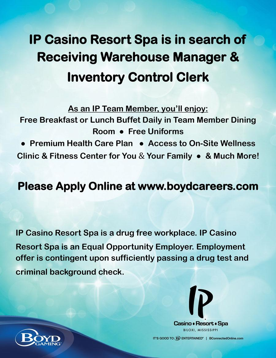 ipcasino resort spa is seeking a receiving warehouse manager inventory control clerk careers apply httpbitly2gvv4wu pictwittercom7pqr5dgywq - Inventory Control Clerk