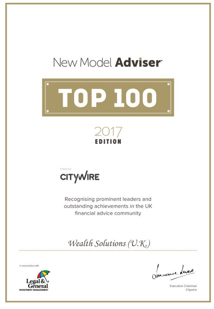 Proud to be part of the @WealthS_Today team. Have been recognised by @NewModelAdviser as a Top100 firm. #Top100 #Team <br>http://pic.twitter.com/99gnfKEJAo