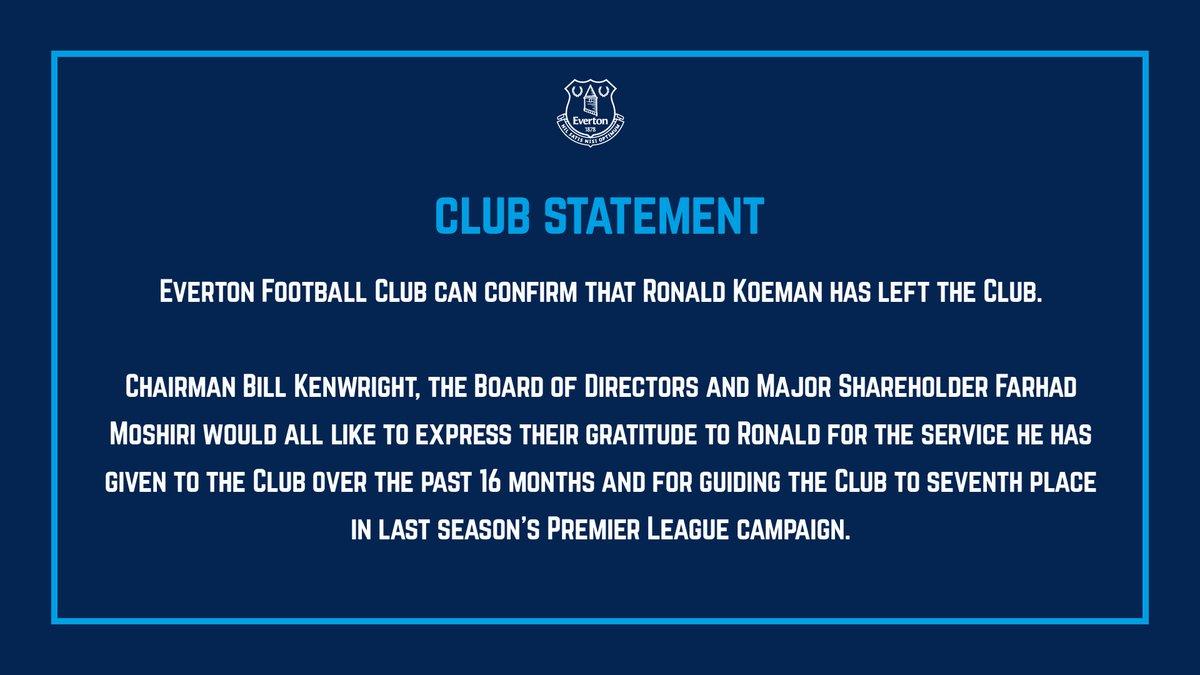 FÚTBOL | Así ha acabado @RonaldKoeman en el @Everton 👇 https://t.co/1H...