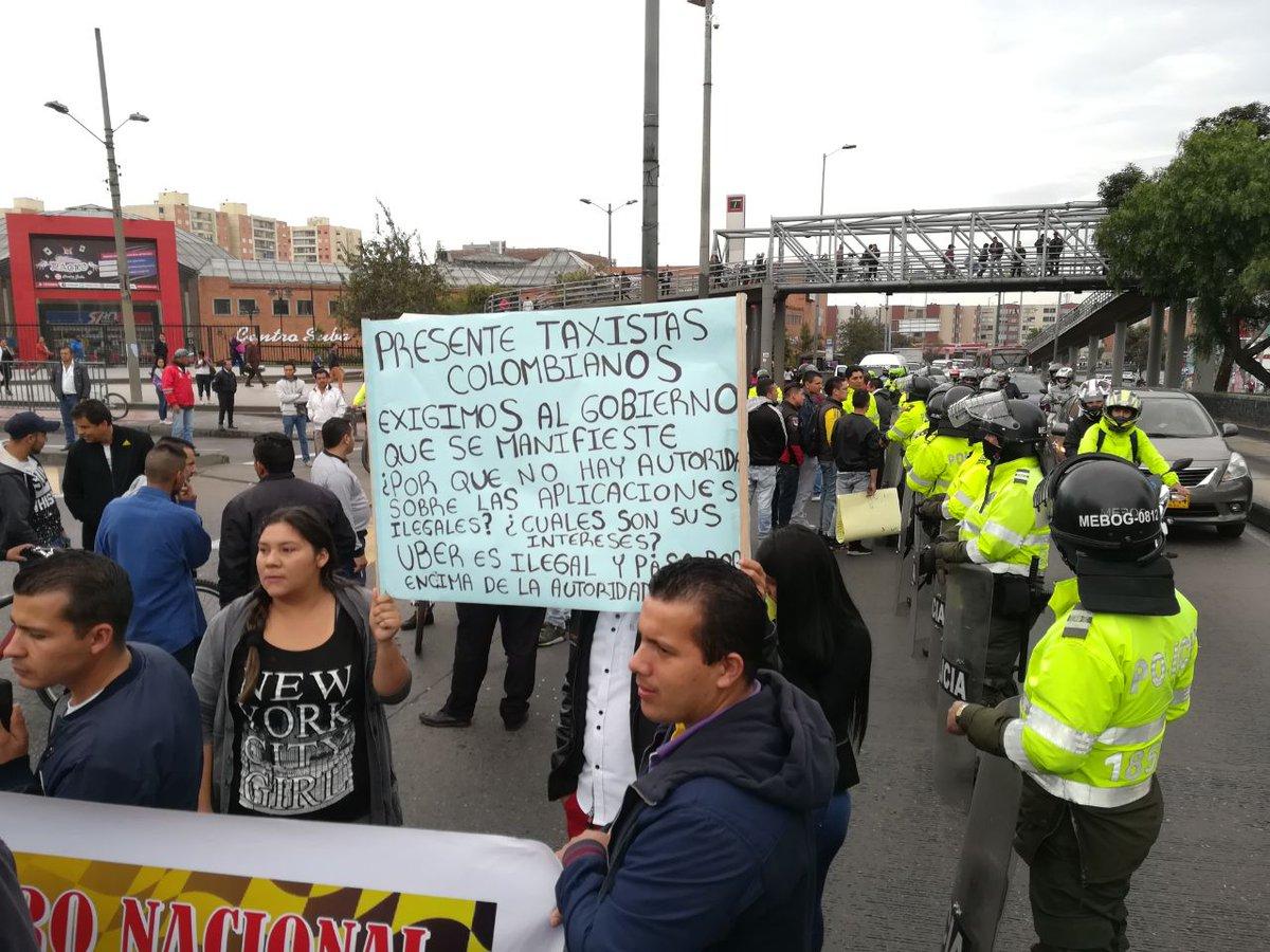 #ParoDeTaxistas: por bloqueo de vías se han impuesto 57 comparendos ht...
