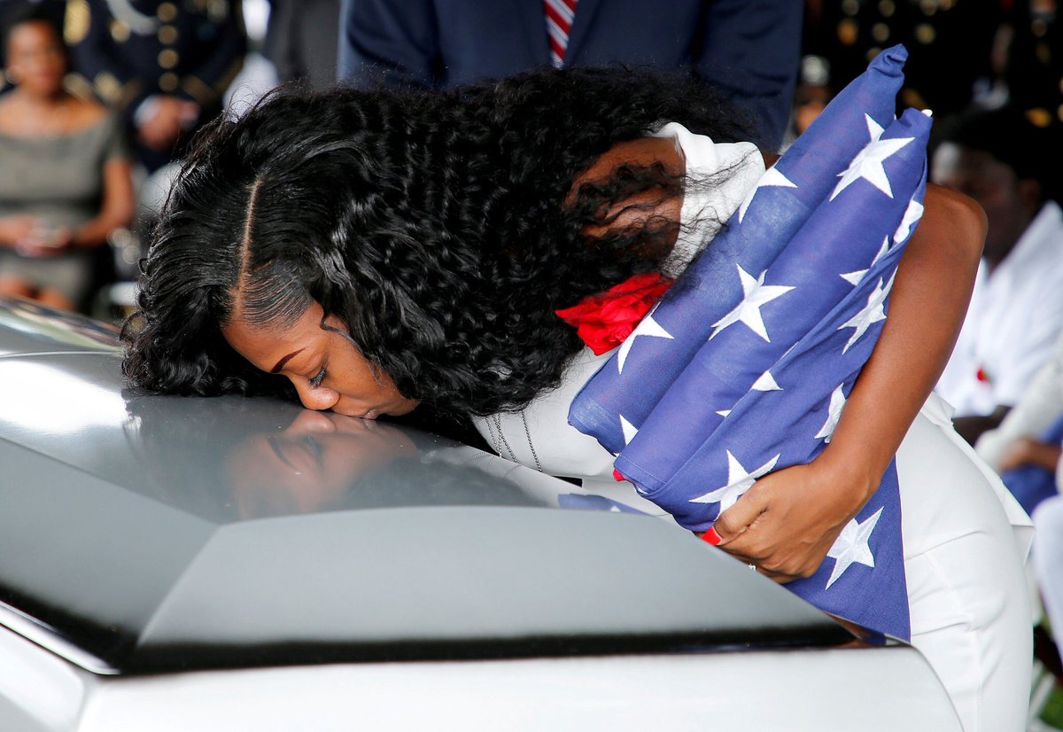 Dear @realDonaldTrump,  We don't believe you.   We believe Myeshia Johnson.   Let her husband rest in peace.   Sincerely,  America