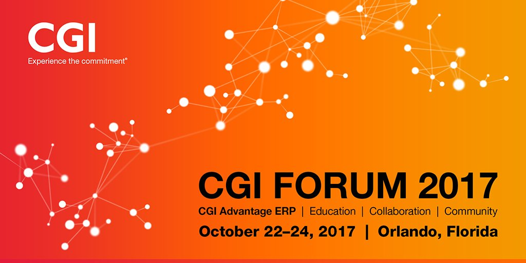 39th CGI Forum gathers #CGIAdvantage #ERP users to share best practices for leading built-for-government solution.  http:// bit.ly/2yHb9g2  &nbsp;  <br>http://pic.twitter.com/VLnf1o552k