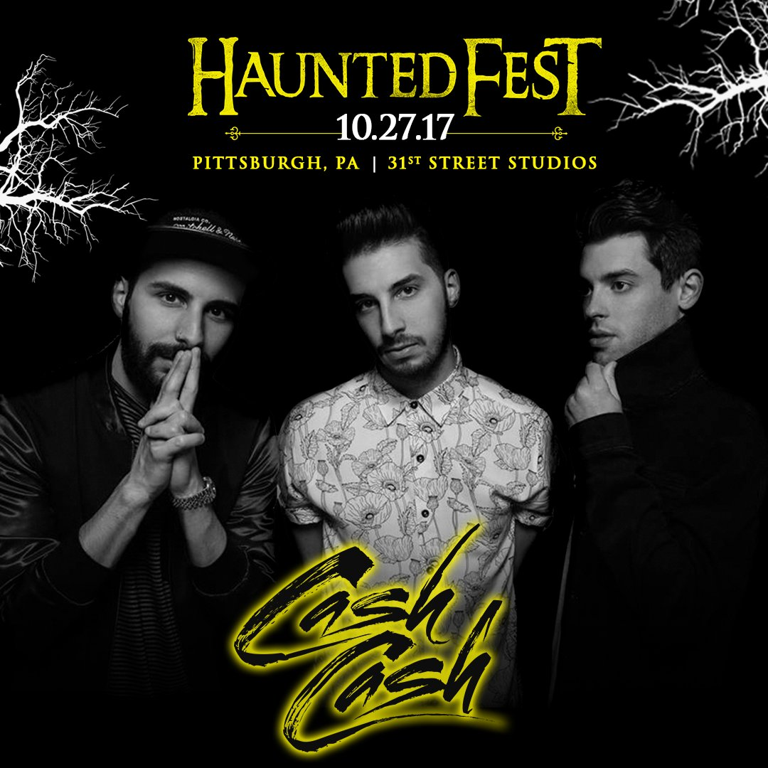 """cash cash on twitter: """"whos ready for halloween?!?! 10/27 pittsburgh"""