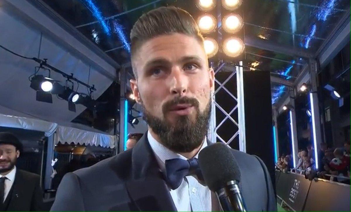 Good luck to Puskas nominee Olivier Giroud at the FIFA Football Awards...