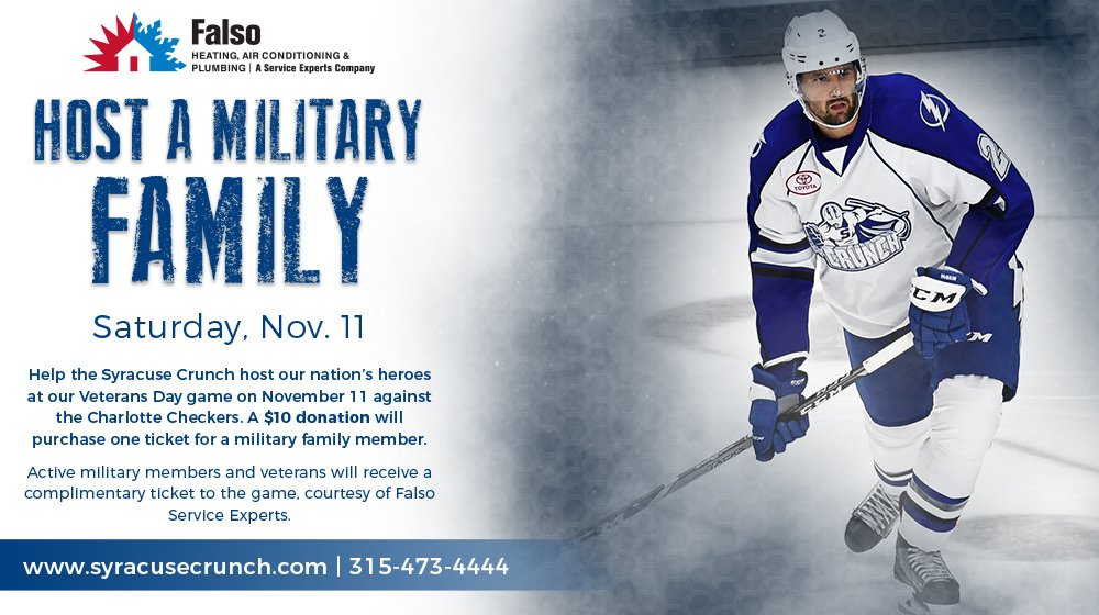 Syracuse Crunch On Twitter Help Host A Military Family At Our