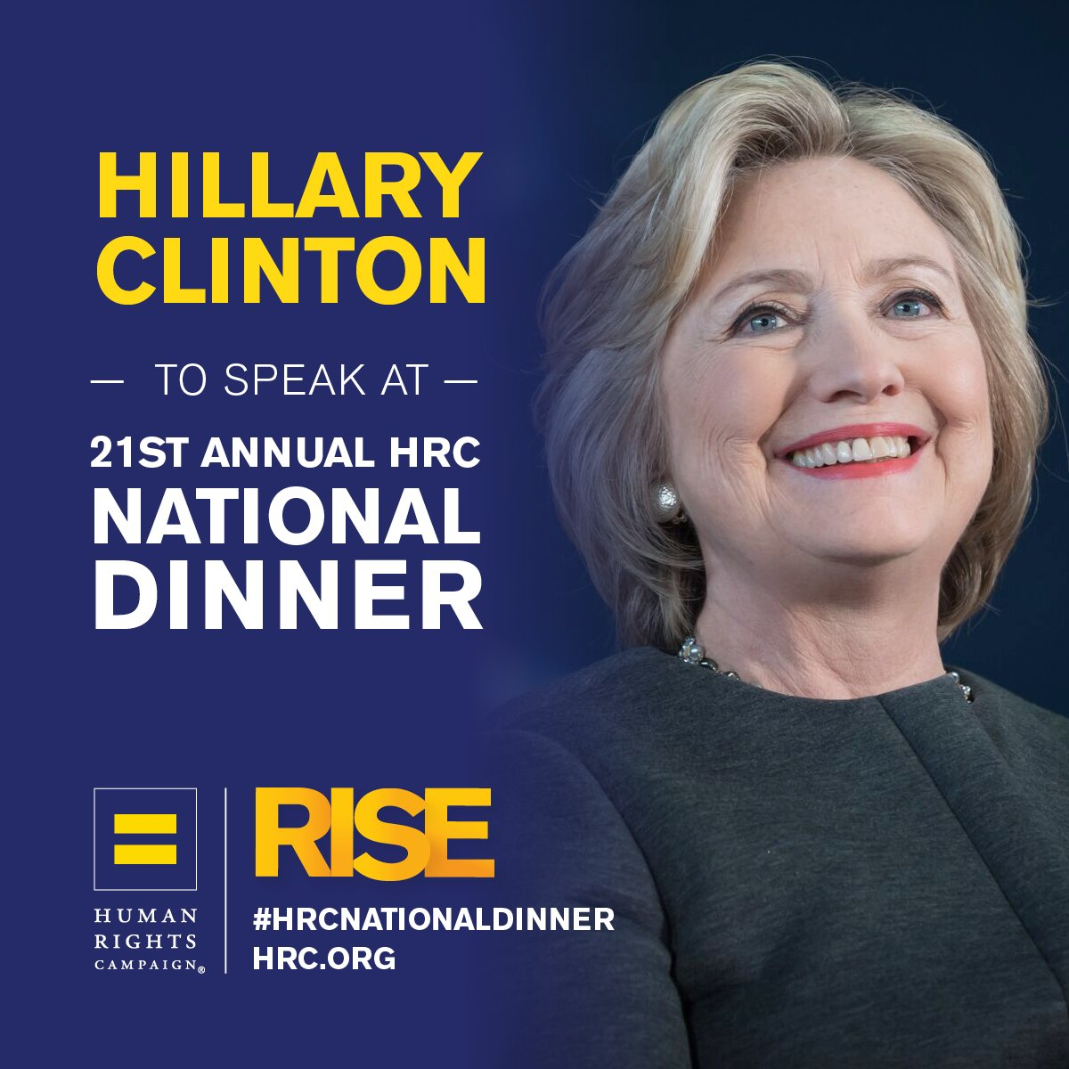 .@HRC is excited to welcome back @HillaryClinton to the #HRCNationalDinner. https://t.co/FW6LLiDOnx