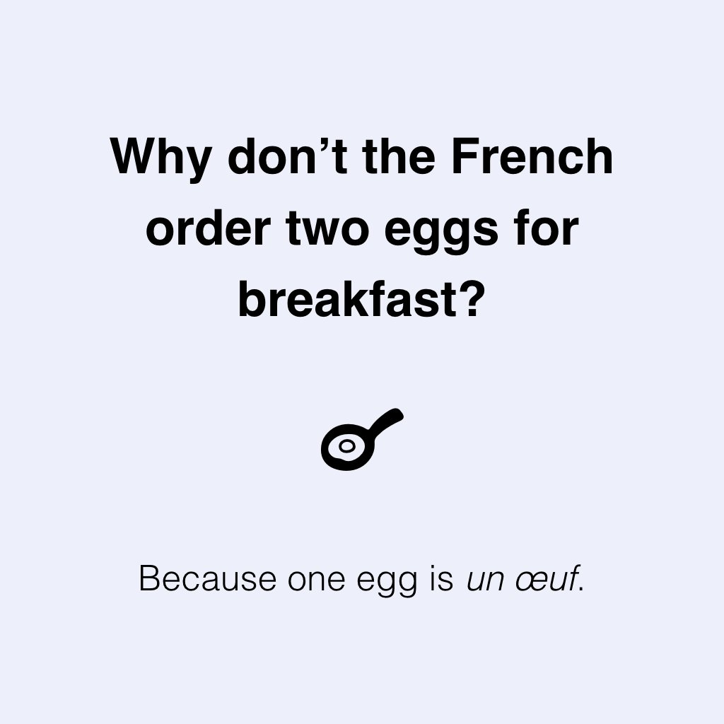 Why don't the #French order two eggs for #breakfast?<br>http://pic.twitter.com/GqMq5OWDPi