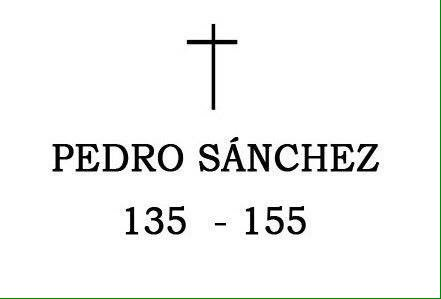 Pedro Sánchez, del 135 al 155.  Menos ma...