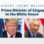Today, President Trump will welcome Prime Minister Lee Hsien Loong of Singapore to the White House.