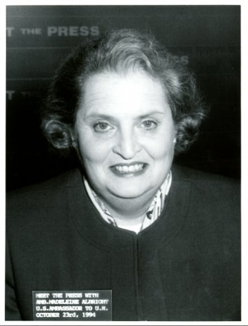#OnThisDay in 1994, U.S. Ambassador to the UN Madeleine Albright was a guest on MTP.