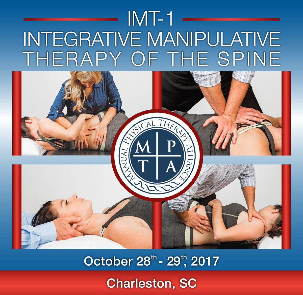 It&#39;s not to late to join @MPTAConEd for IMT-1 #SpinalManipulation Course in #Charleston this Saturday!  PM for more info! #PhysicalTherapy<br>http://pic.twitter.com/WYX5K9UyLM